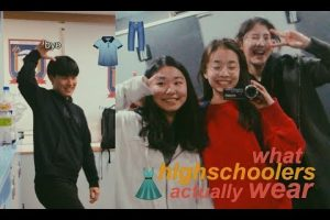 what highschoolers actually wear (international school in Korea) l Christina Choi