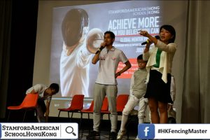 stamford american school x HK Fencing Master Mega Fencing workshop 27 July 2017