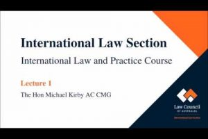 International Law Section Lecture