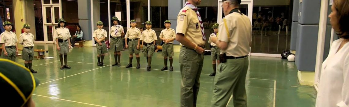 Josh receives red tabs – Assistant Cub Scout Leader