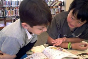 CAIS – Second and fifth grade Chinese class reading buddies