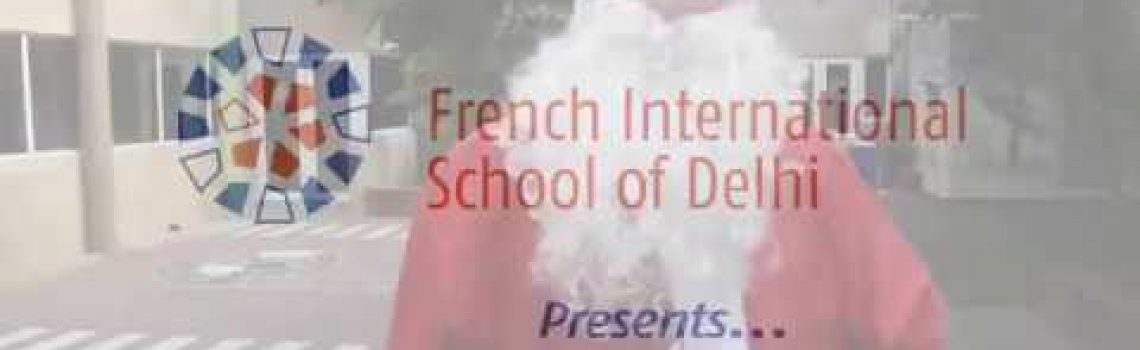 Santa Klaus visits International French School of Delhi
