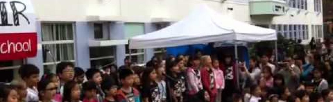 Shatin Junior School Fair 2012 – junior choir – hand in hand
